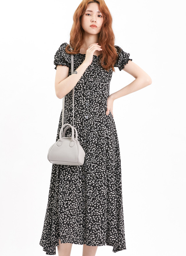 D1101雅娣香草方領洋裝(兩色)