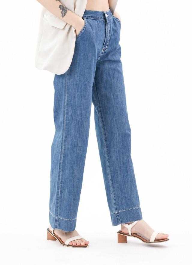 P0344麥菲車線直筒牛仔褲