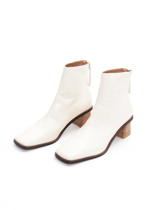 SH0238娜特皮革拉鍊襪靴