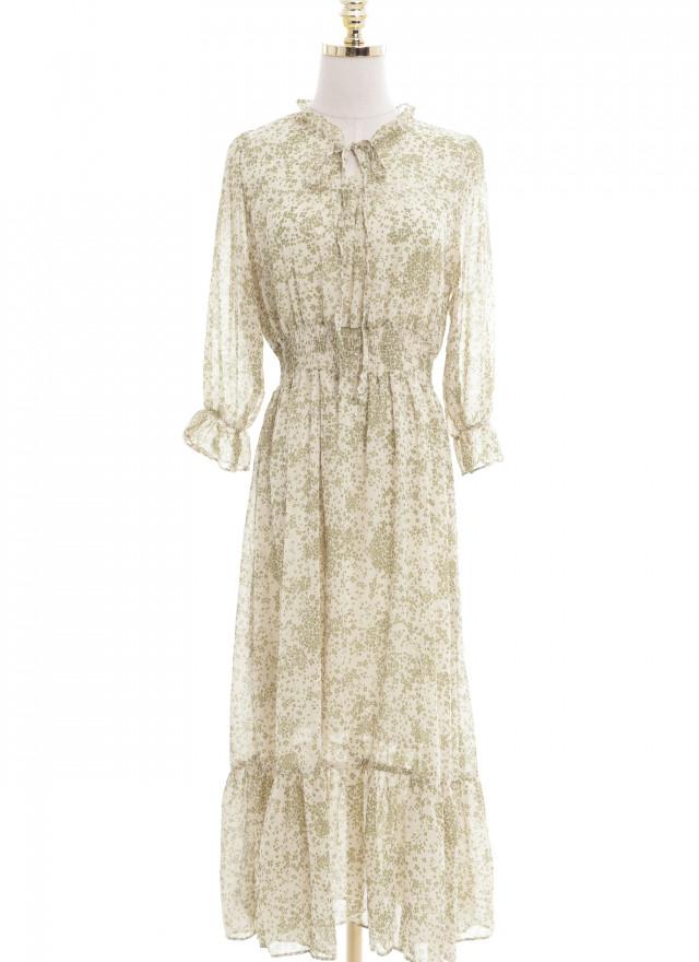 D1153希蒂綠漾層次洋裝