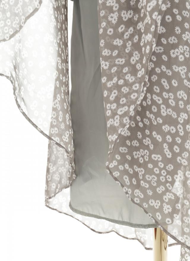D1152德莉V領小花洋裝(兩色)