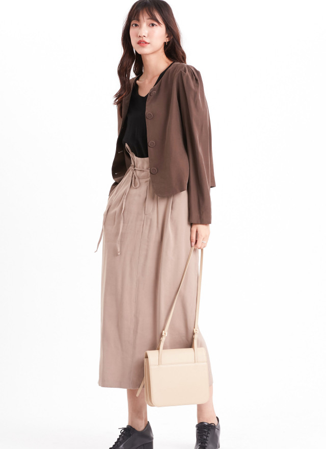 T1623洛柔釦飾開襟外套(三色)