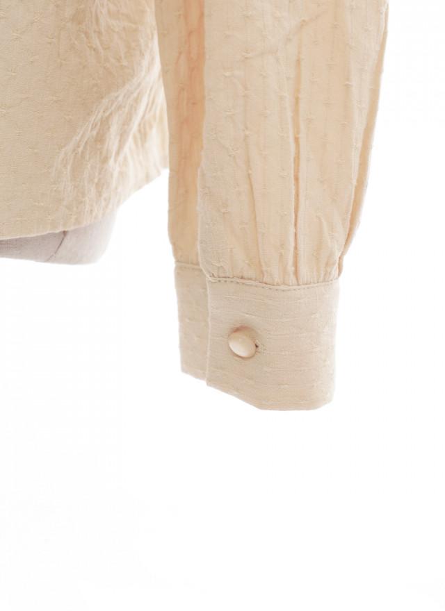 T1614花瑞單釦抓褶上衣