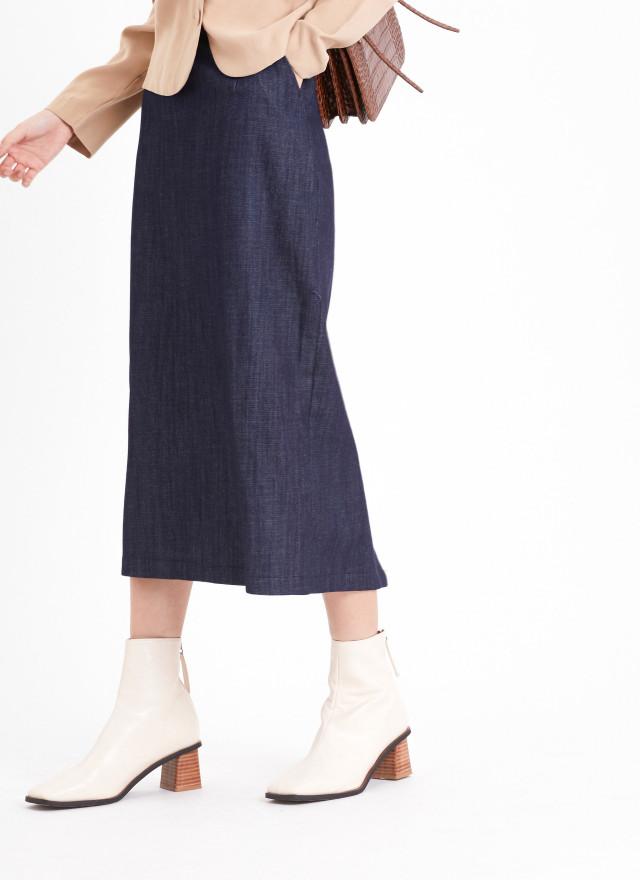 S0907比翠丹寧口袋窄裙