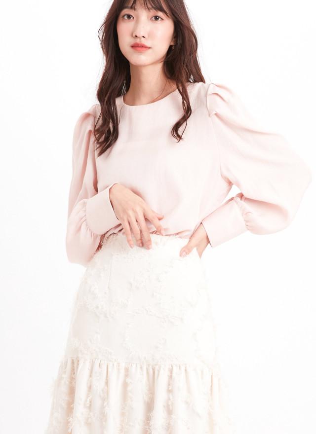 T1621莉帕摺袖光澤上衣(兩色)