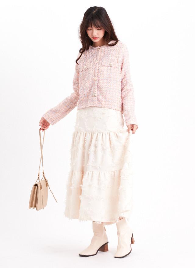 O0637葵妮彩織小香外套
