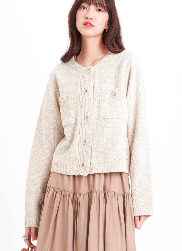 O0631嘉洛排釦針織外套