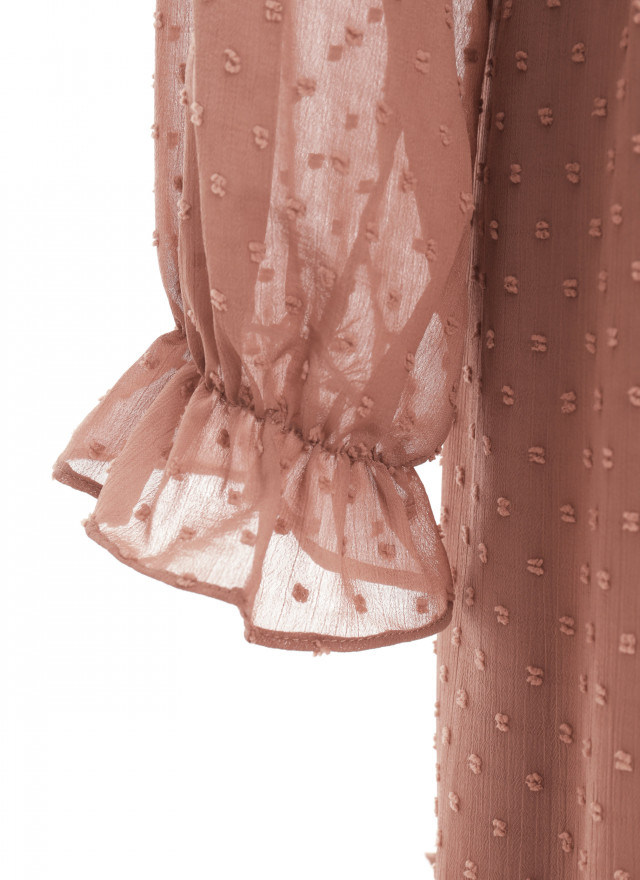 D1160蒂倫雪點花領洋裝