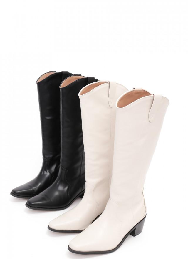 SH0241葛珊直筒V口長靴(兩色)