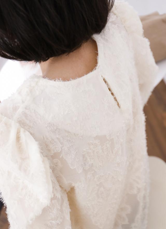 T1695安瑪抽繩蕾絲上衣