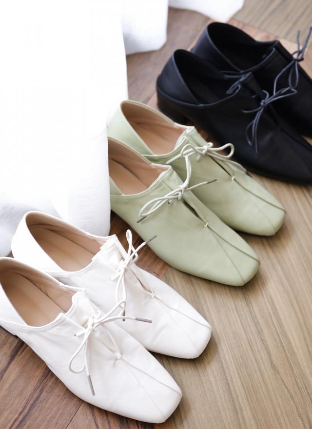 SH0253薩妮內摺綁帶鞋(三色)