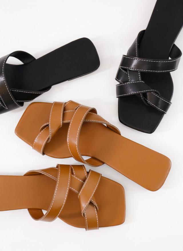 SH0258萊莉交叉繞帶拖鞋(兩色)