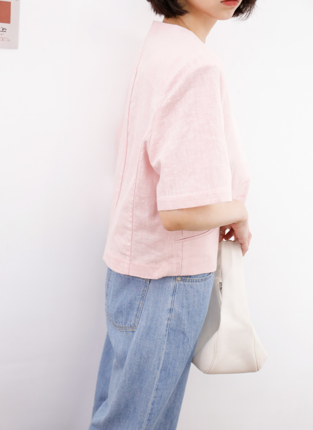 O0701璐琳粉嫩短袖西外