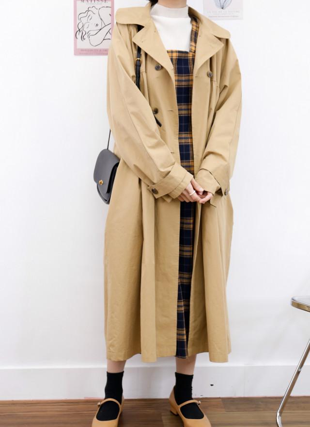 D1437蜜凱格紋背心洋裝
