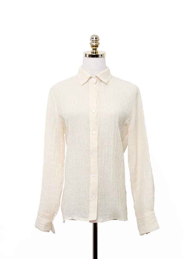 T1058 涼感立體紋路襯衫(三色)