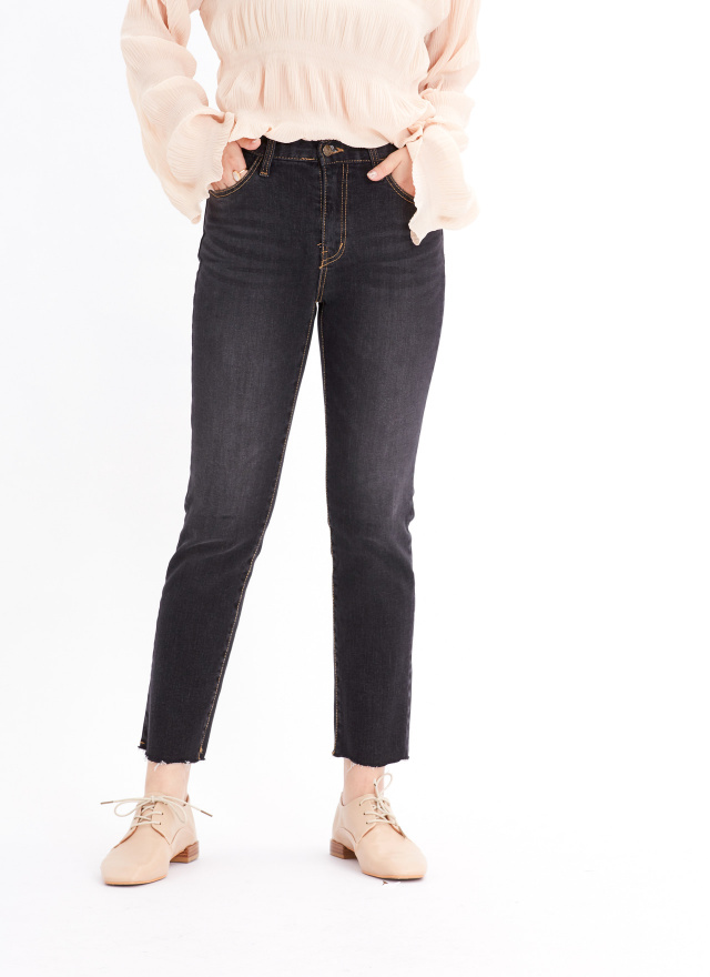 L0007WOW~~ JEANS 黑色訂製牛仔褲