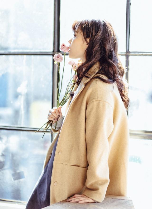 O0171 氣質美人質感羊毛外套