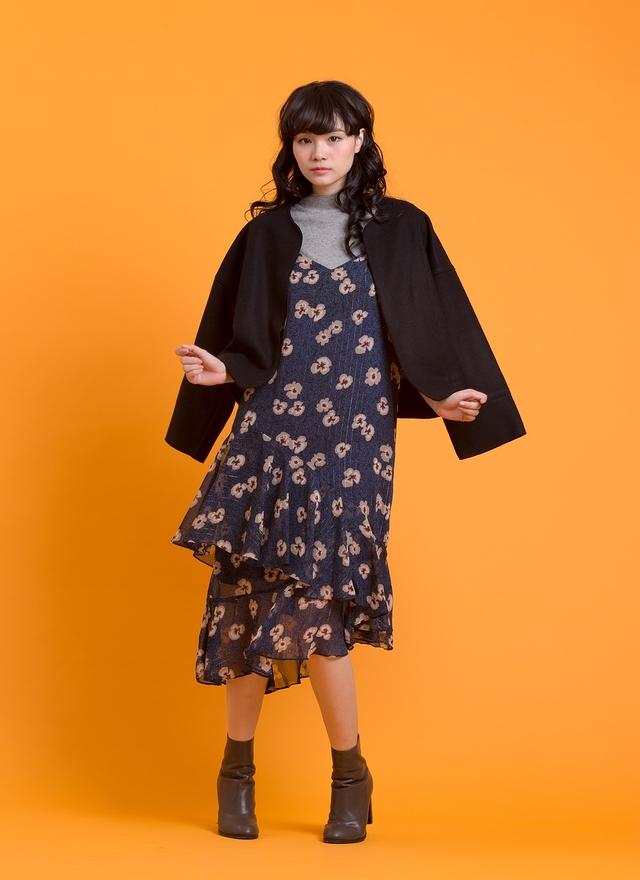 O0169 高雅極簡毛料外套
