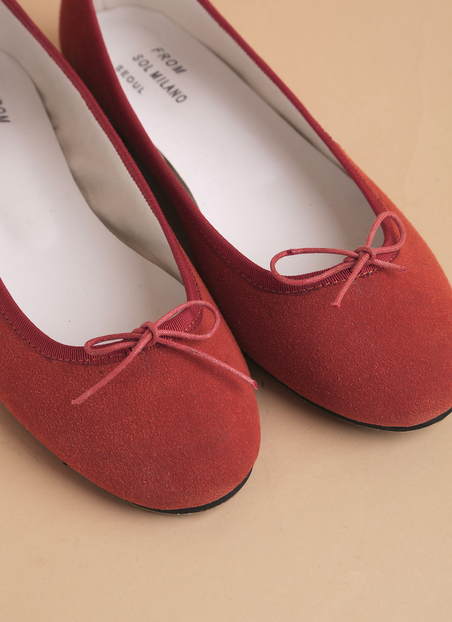 SH0042 麂皮蝴蝶結娃娃鞋