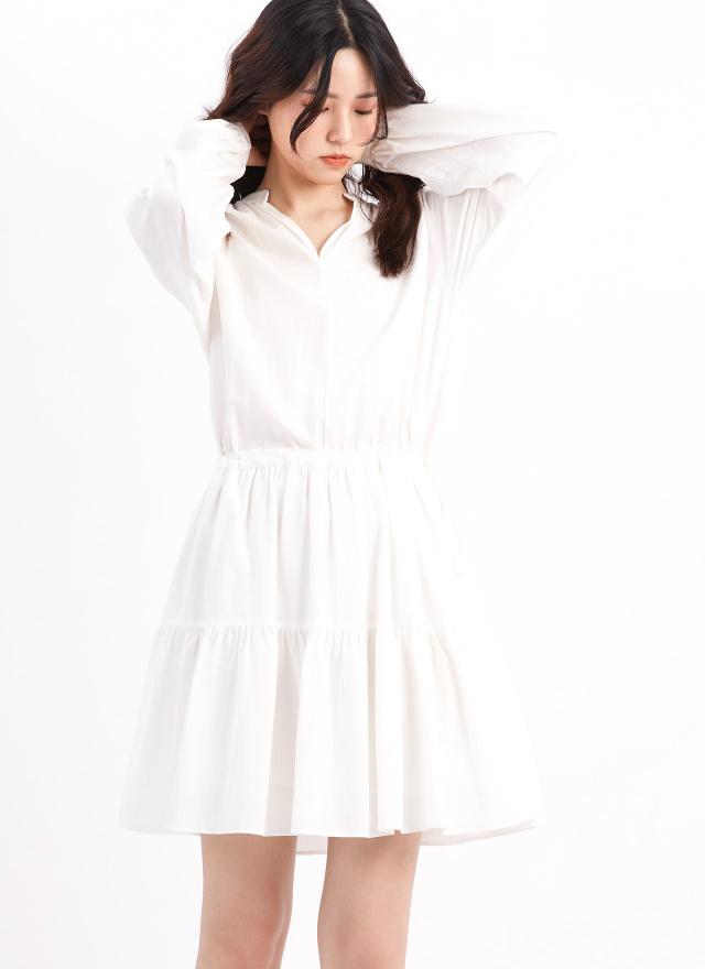 D1080蜜莉抽繩造型洋裝(兩色)