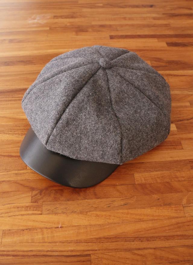 A0236 異材質拼接報童帽