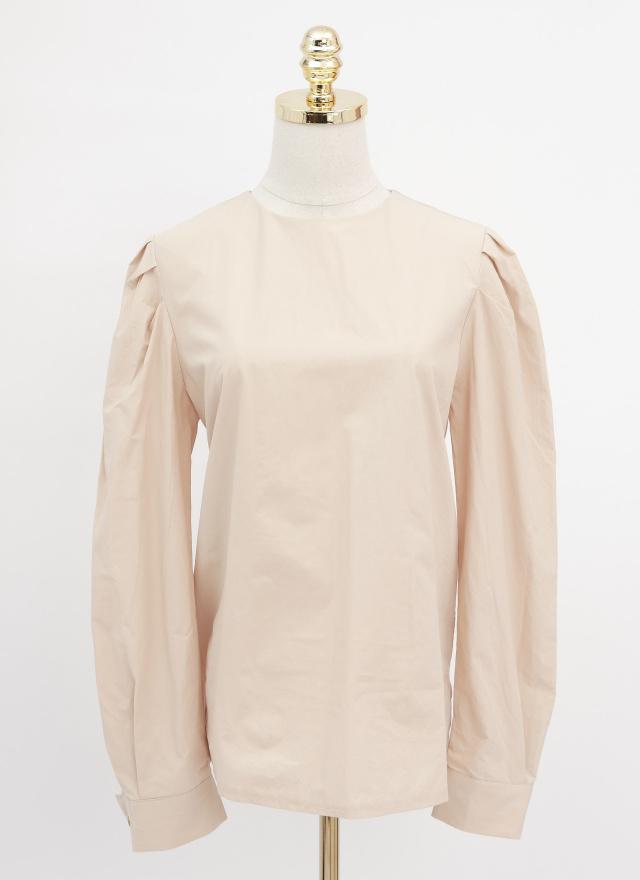 T1503粉柚澎袖宮廷上衣(兩色)