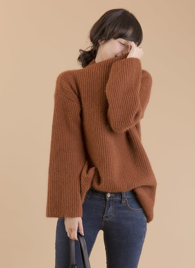 T0397 羊毛垂墜高級感毛衣