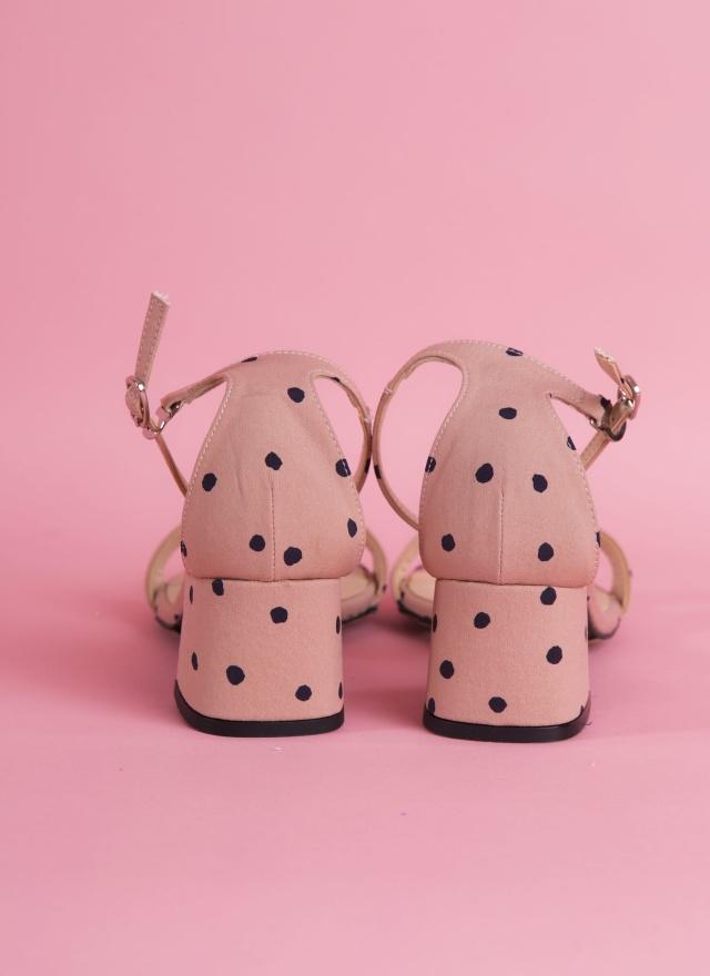 SH0063 甜美粉紅點點涼鞋