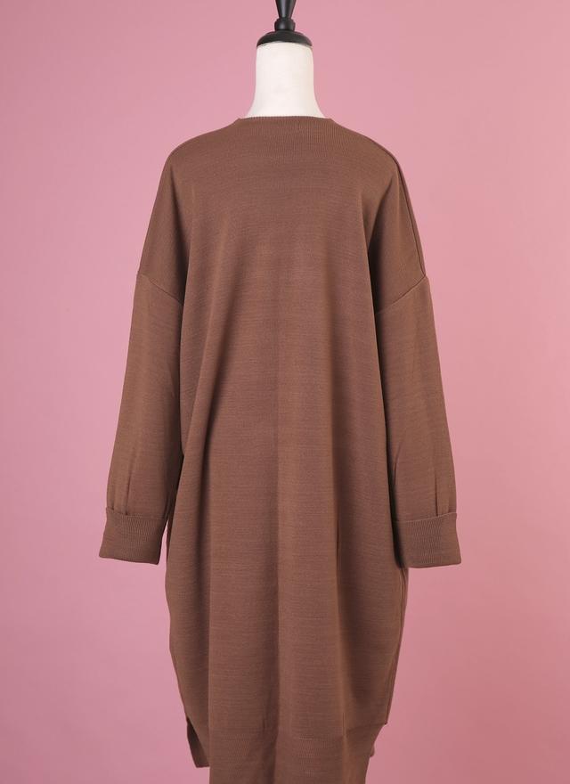 O0159 秋色駝色針織長外套