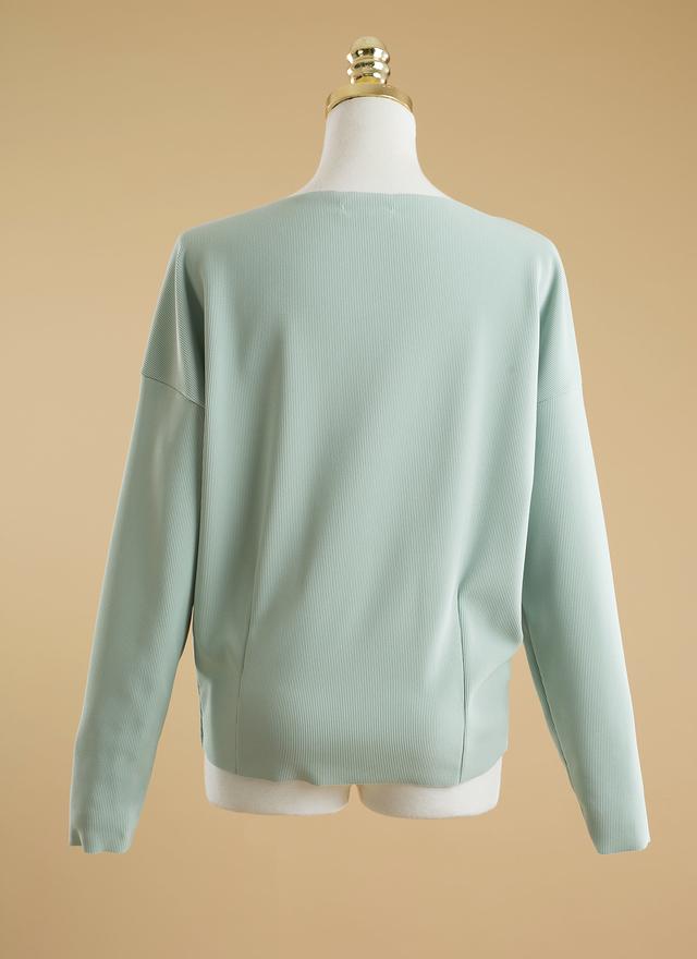 T0284 清新薄荷綠甜美上衣
