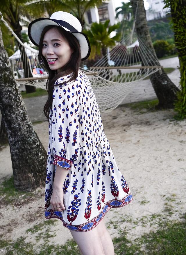 D0238 柔軟絲質花棉洋裝