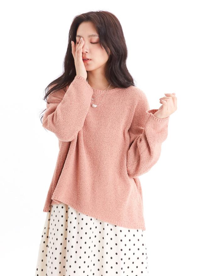 T1508春花絮語針織上衣(兩色)