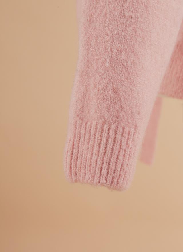 T0372 甜美打結粉彩毛衣