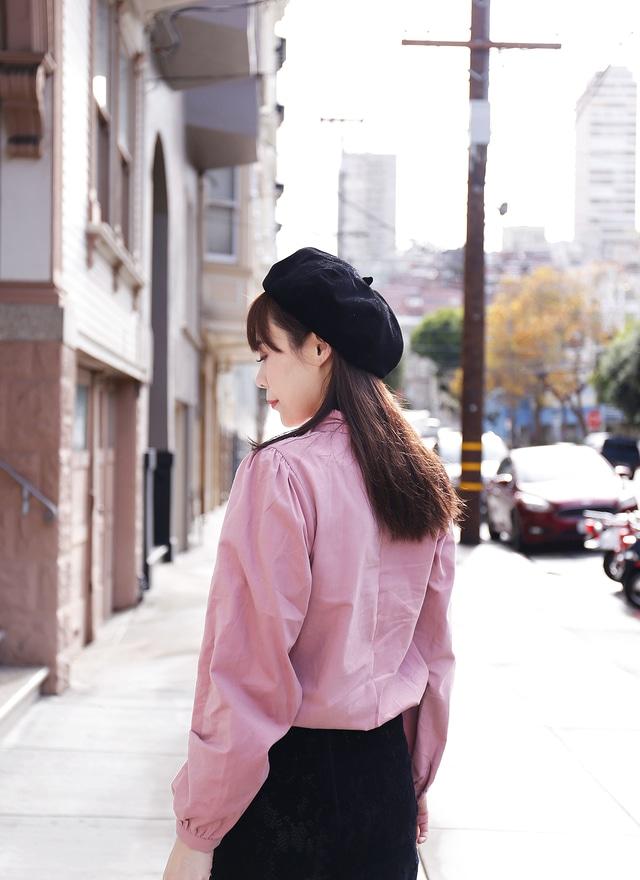 T0873 甜嫩粉色微領襯衫
