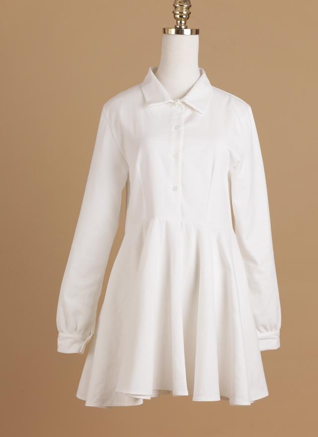 D0265 俏皮剪裁襯衫洋裝
