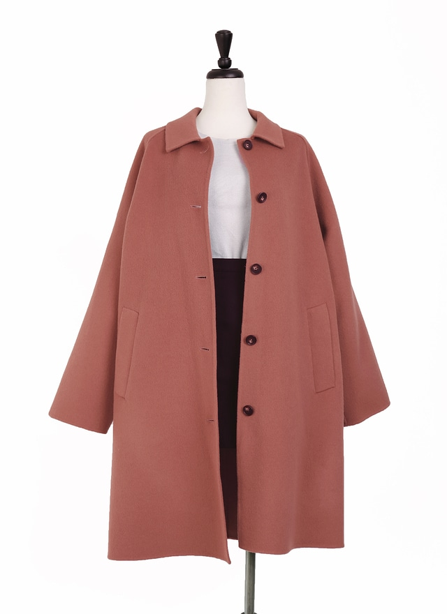 O0227 小領細緻手工羊毛大衣