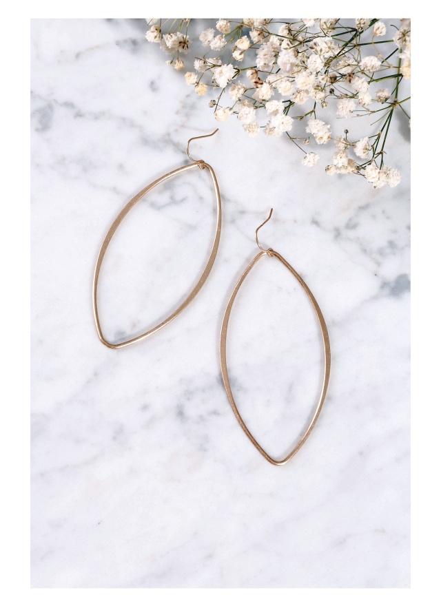 A0211 金屬的獨白耳針式耳環