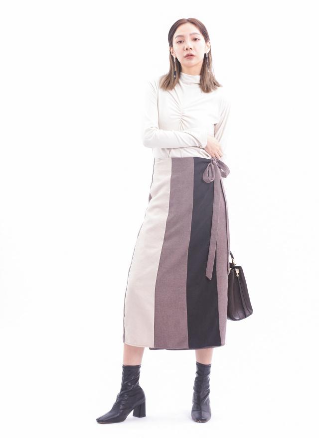 S0806柏林少女直紋片裙