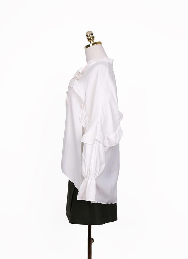 T0868 浪漫公主風綁帶襯衫