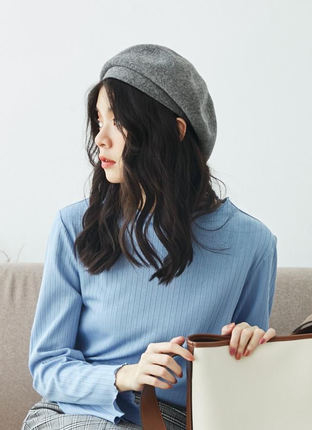 A0230 寬帶羊毛貝蕾帽