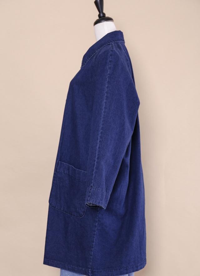 O0206 個性風衣款牛仔外套
