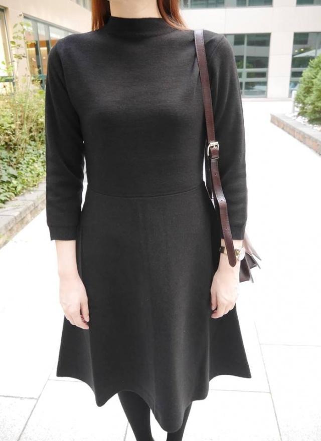 SP秘黑優雅彈性連身洋裝