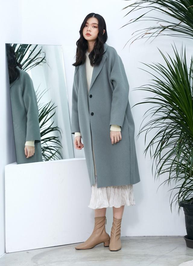 經典美人雙釦羊毛大衣(訂製款)