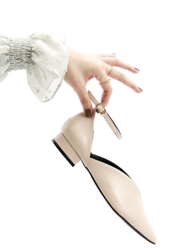 SH0218翩舞冬音尖頭繞帶鞋