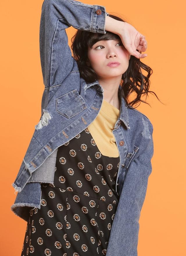 T0501 甜美檸檬黃針織上衣