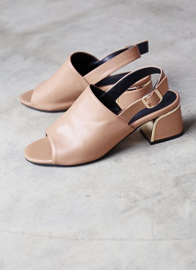 SH0124 金屬方根魚口鞋