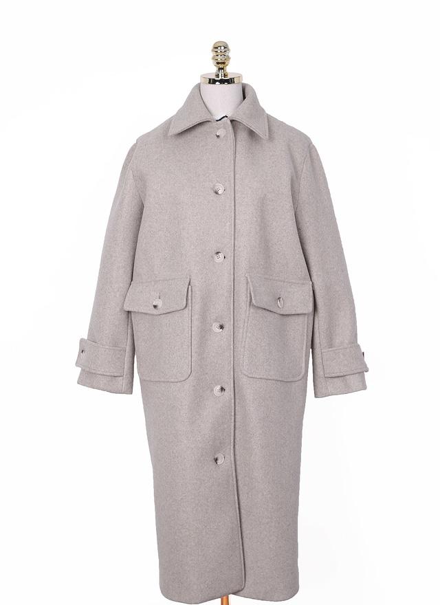 立體縫線雙口袋大衣(特惠)