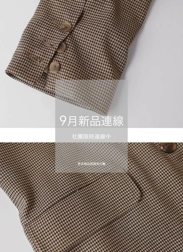 小巧思細紋西裝外套