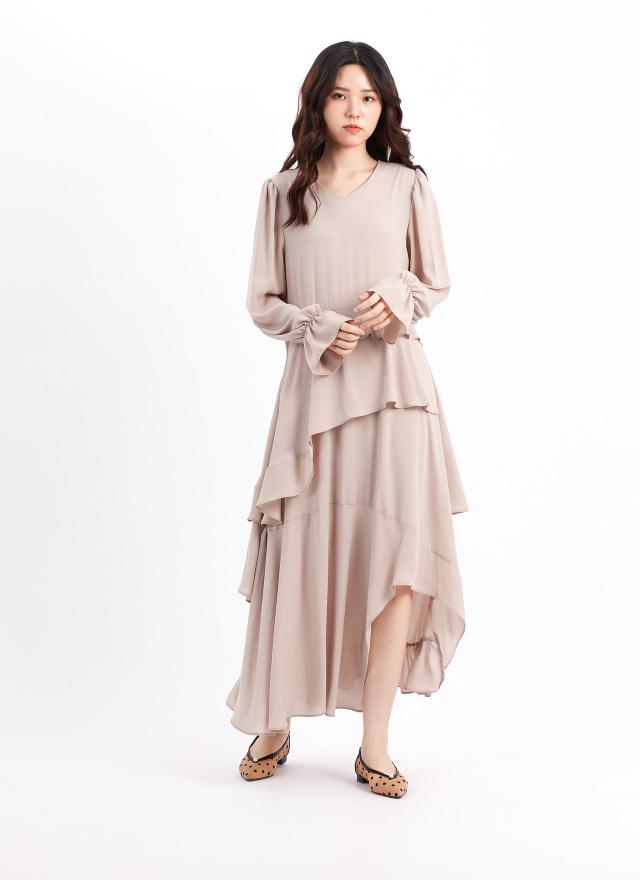 D1068靜夢層襬洋裝