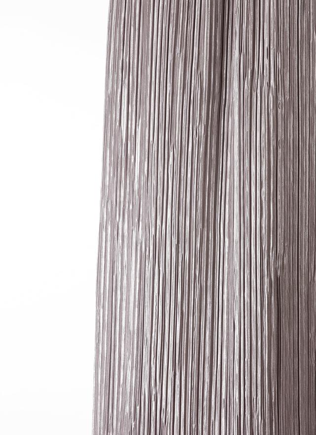 S0350 閃質灰銀色百褶長裙